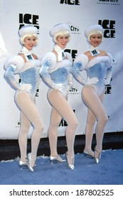 Rockettes at premiere of ICE AGE, NY 3/10/2002