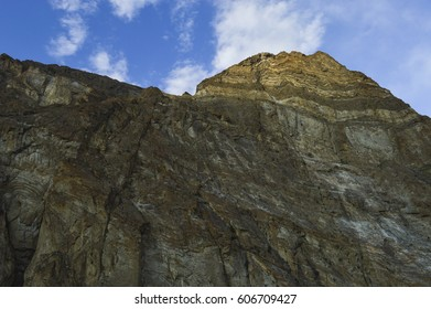 Rockface in Askole village in Pakistan's Gilgit-Baltistan province