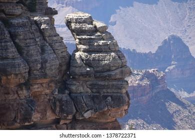 """""""Rockface"""" at Grand Canyon South Rim"""