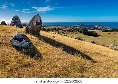 Rockformation stony Batter at Waiheke Island, New Zealand