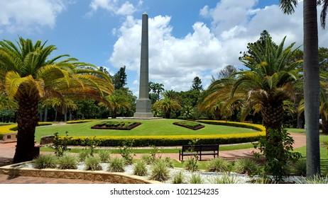 Rockhampton, Queensland, Australia - December 28, 2017 - Rockhampton War Memorial in the Rockhampton Botanic Gardens