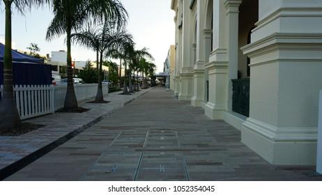 Rockhampton's riverside historical buildings and walkway