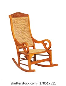 rocking chair isolated on white