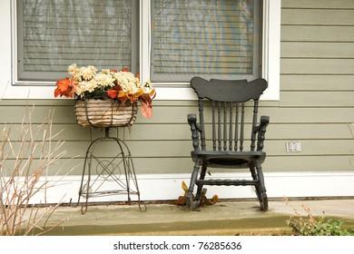 Rocking chair on veranda