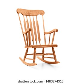 Rocking chair on a white background, including clipping path