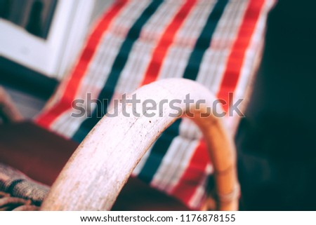 Swell Rocking Chair Red White Blue Stock Photo Edit Now Pdpeps Interior Chair Design Pdpepsorg
