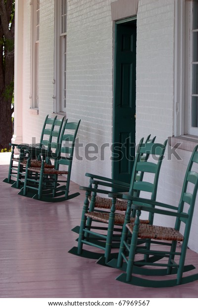Amazing Rocking Chairs On Porch Southern Mansion Stock Photo Edit Gmtry Best Dining Table And Chair Ideas Images Gmtryco