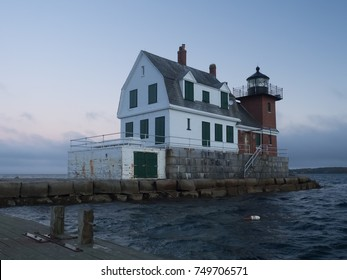 Rockland Breakwater Lighthouse, Maine, New England, USA.