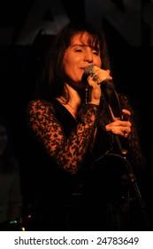 Rockland in Sweden- Jan 31: Singer Karen Nash performs on stage at Rockland Jan 31, 2009 in Sala Sweden