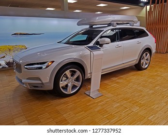 ROCKLEIGH, NEW JERSEY/USA - MAY 4, 2018: A Volvo V90 Cross Country Ocean Race Edition with a 316-hp turbo & supercharged 2.0 liter inline-four. Volvo's Ocean Race is the world's premier offshore race.