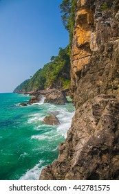 The rocks along the coast Sea south of Thailand