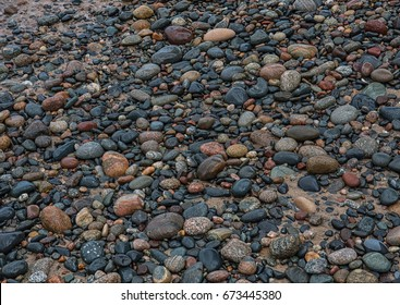 Rocks along Lake Superior Shoreline in Michgan's Upper Peninsula
