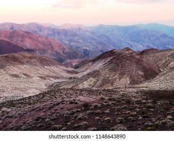 The rocks around Dante's View. Dante's View is a viewpoint terrace at 1,669 m, on the north side of Coffin Peak, along the crest of Black Mountains, overlooking Death Valley, California (USA).