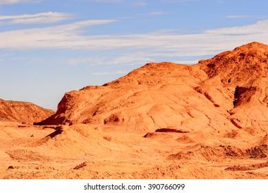 Rocks in Atacama desert in Chile
