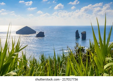 Rocks before the coast of Sao Miguel, Azores, Portugal, Europe