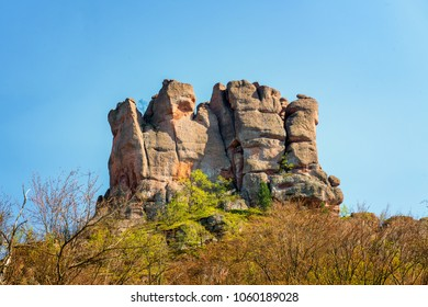 The rocks of Belogradchik (Bulgaria) - red color rock sculptures part of UNESCO World Heritage who were nominated to the World New