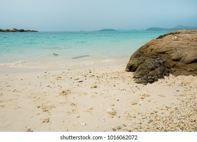 Rocks and boulders in a gulf of Thailand  sea at Luk Lom beach, Samae San island in Thailand