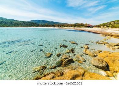 Rocks in Cala Pira beach, Sardinia