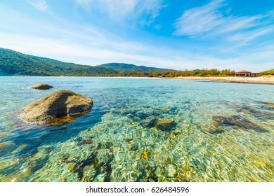 Rocks in Cala Pira shore, Sardinia
