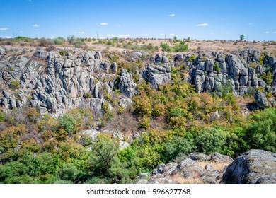 rocks canyon in ukraine