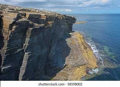 Rocks and cliffs at Orkney islands, Scotland - HDR image