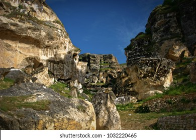 Rocks close to the city Hasankeyf in Turkey