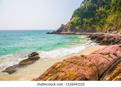 Rocks and coastal areas in southern Thailand