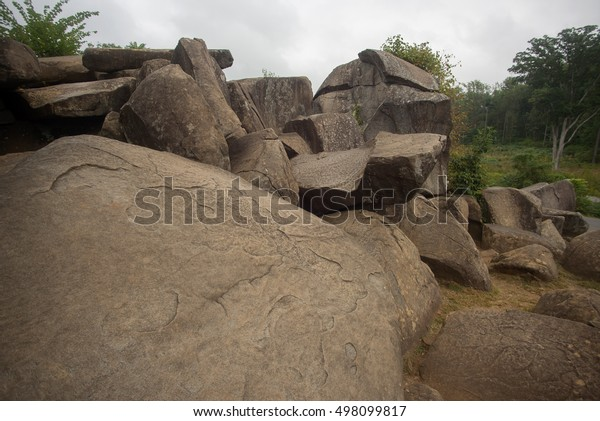 Rocks at Devils Den in Gettysburg Battlefield