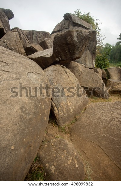 Rocks at Devils Den in Gettysburg Battlefield