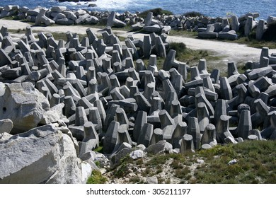 Rocks, geometric composition of  concrete blocks, near of the  cliffs paper, patterns, texture, puzzle, science, knowledge, cosmos, space,synapses, abstract surrealism,