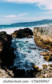 Rocks at Guincho near Cascais in Portugal , Atlantic seascape