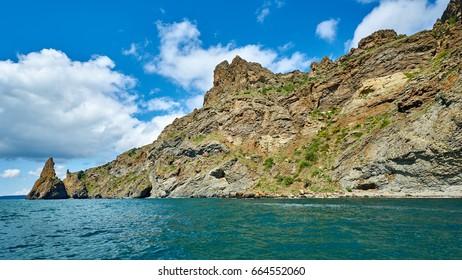 Rocks of the Karadag National park near Koktebel, Crimea