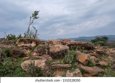 Rocks in the Laikipia region of Kenya