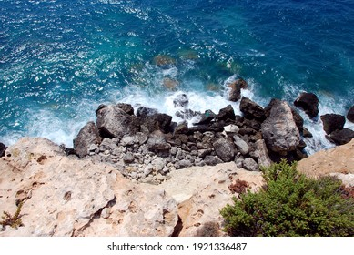 Rocks of Lampedusa, Italy, Europe. Summer 2009.