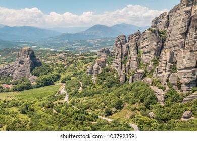 Rocks in Meteora in Greece