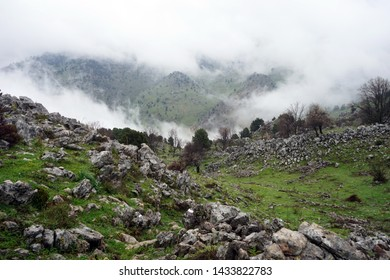 Rocks and mount in North Lebanon