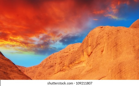 Rocks and Mountains of Australian Outback, Northern Territory