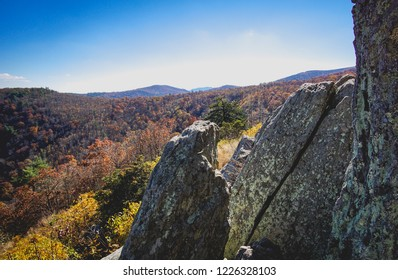rocks in the mountains in fall