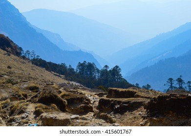Rocks in the mountains, Nepal