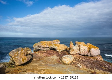 Rocks at ocean coast. Cape of Good Hope, South Africa.