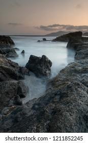 Rocks ocean landscape