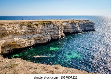 rocks on the coast of Atlesh of the Black Sea