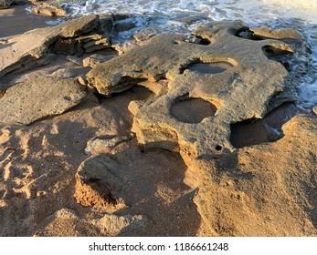 Rocks on a Florida beach.