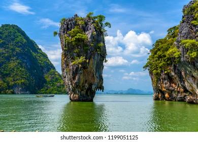 Rocks on James Bond island, Khao Phing Kan, Ko Tapu, Ao Phang-nga National Park, Thailand