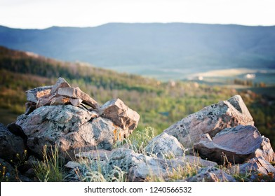 Rocks on Mountain