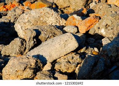 rocks on a mountain near Sisi on Crete in Greece