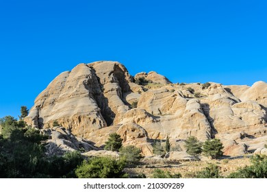 Rocks on the road to Petra, Jordan