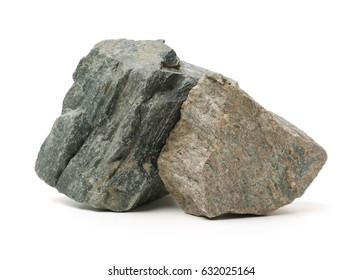 Rocks on white background