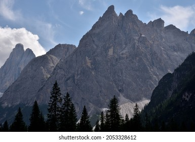 The rocks of one of the most spectacular peaks of the Val Fiscalina, Cima Una, 2699 meters high