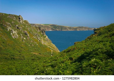 Rocks over the English Channel close of Salcombe, UK